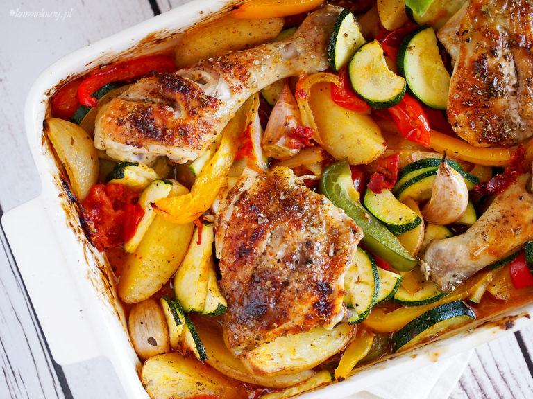 Kurczak z warzywami i chorizo