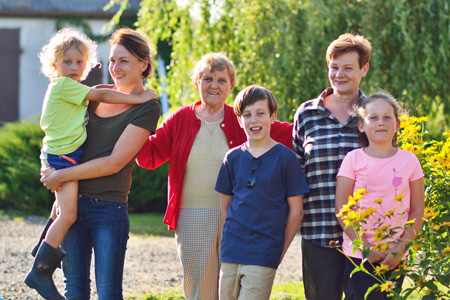 Wiesia z rodziną